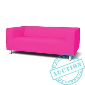 Cerise-Pink-New-Custom-Cover-Slipcover-to-fit-IKEA-KLIPPAN-2-Seater-Sofa Width: 180 cm Depth: 88 cm Height: 66 cm Seat depth: 54 cm Seat height: 43 cm Number of seats: 2 pack
