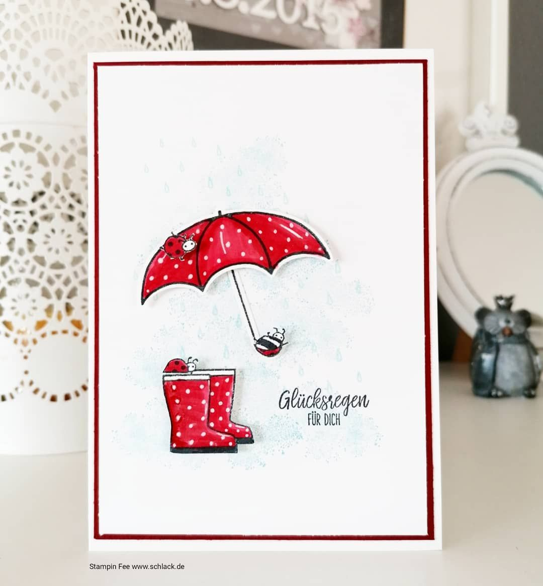 Stampin Fee Nicole Schlack On Instagram Werbung Ok Es War Ein Bißchen Fummelig Aber Ich Finde Es Hat In 2020 Umbrella Cards Stampin Up Cards Under My Umbrella