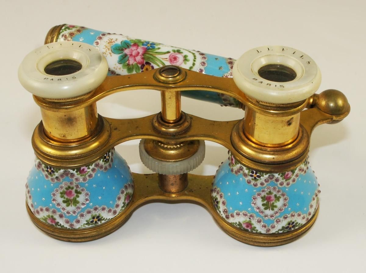 Antique Victoria French Brass Binocular  Opera Glass Binocular