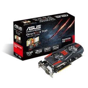 Asus R9270X-DC2T-2GD5  Radeon R9 270X DirectCU II TOP 2 GB GDDR5 -näytönohjain PCI-e-väylään.