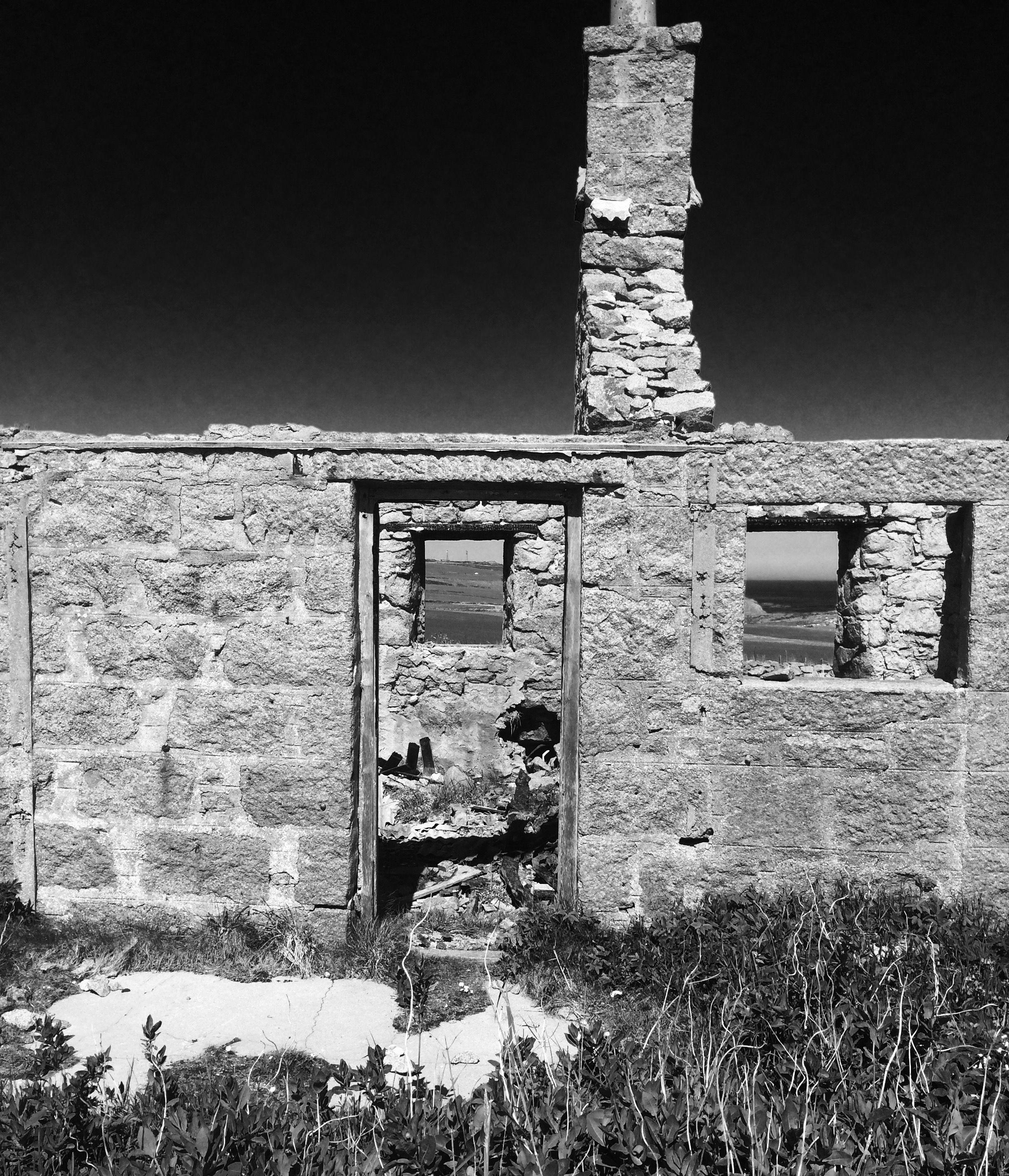 House ruin, long haven cliffs scotland