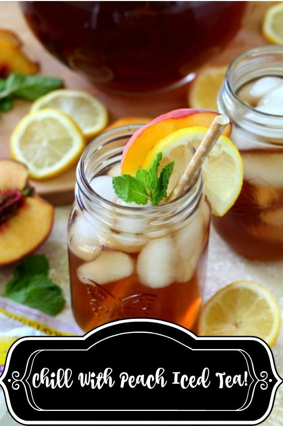 Recharge your battery after hard days work with peach iced tea recipe or share with your family and...