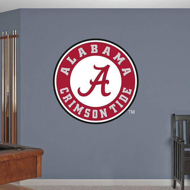 Alabama Crimson Tide Circle Logo Fathead – Peel & Stick Wall Decal
