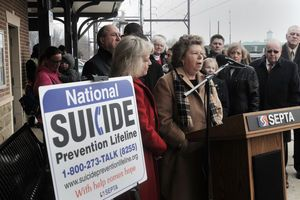 SEPTA posts suicide-prevention signs at every station;;  National Suicide Prevention Lifeline