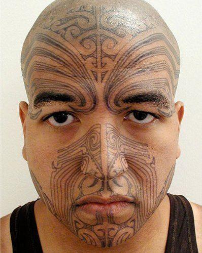Maori Warrior Moko Temporary Face Tattoo Makeup Kit Set Of