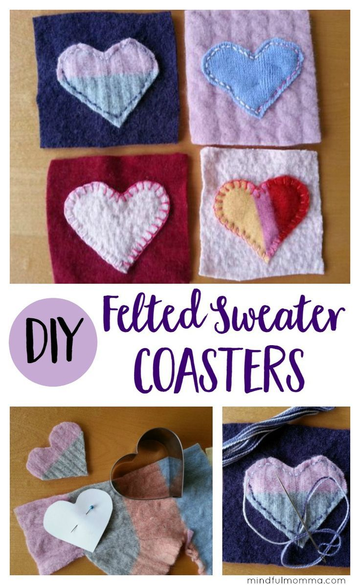 Felted Sweater Coasters An Easy Handmade Gift Diy Projects Diy