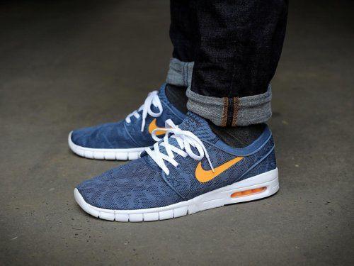 Nike Sb Janoski Max Navy Orange