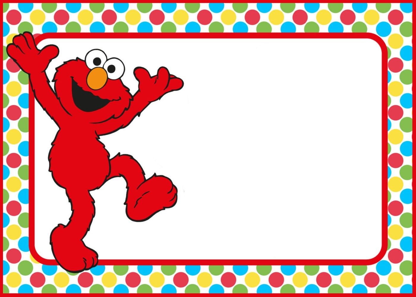 Free Printable Elmo Party Invitation Template