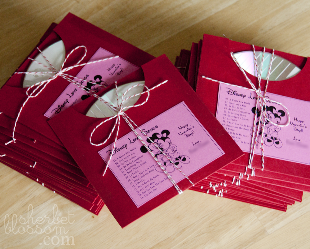 Wedding Favors -- Make a cd of your favorite Disney Love Songs ...