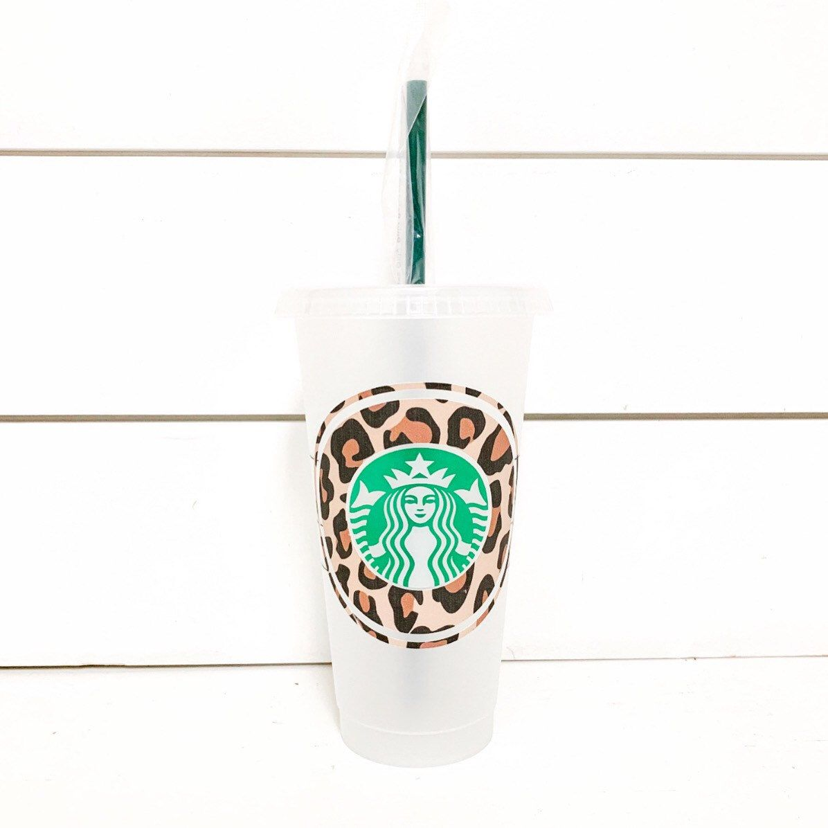 Leopard Print Starbucks Cup Reusable Starbucks Cup Starbucks Cup With Straw Starbucks Cups Custom Starbucks Cup Tumbler Cups Diy