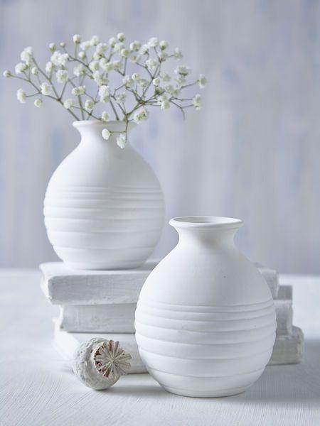 Mini White Round Vase Vases Decor White Vases Modern Vase