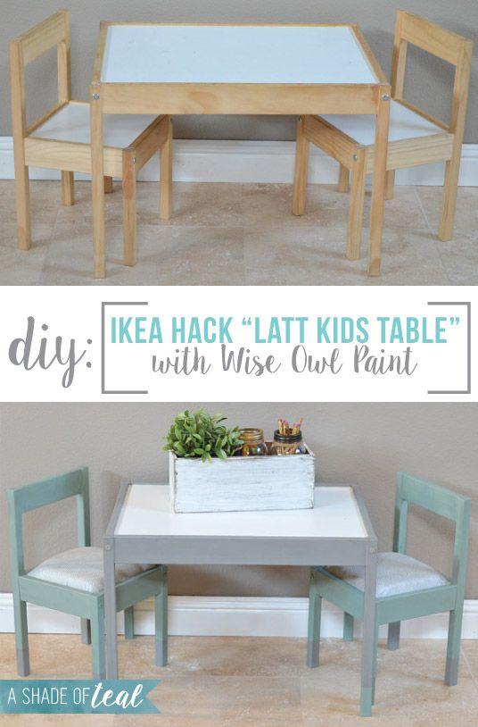 IKEA Hack Latt Kids Table Makeover Ikea Hack Teal And