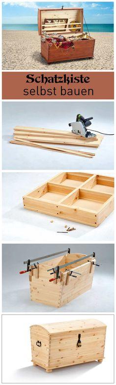 truhe selber bauen basteln pinterest schatzkisten truhe und w sche. Black Bedroom Furniture Sets. Home Design Ideas
