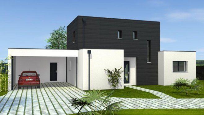 Plan achat maison neuve à construire - Maisons Bernard Jambert Avant - plan maison avec tour carree