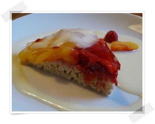 Kleine Kuchen - Pfirsich-Melba-Kuchen