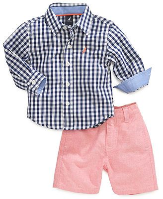 3f606f55 Nautica Baby Boys' 2-Piece Woven Shirt & Shorts Set | Baby/Children ...
