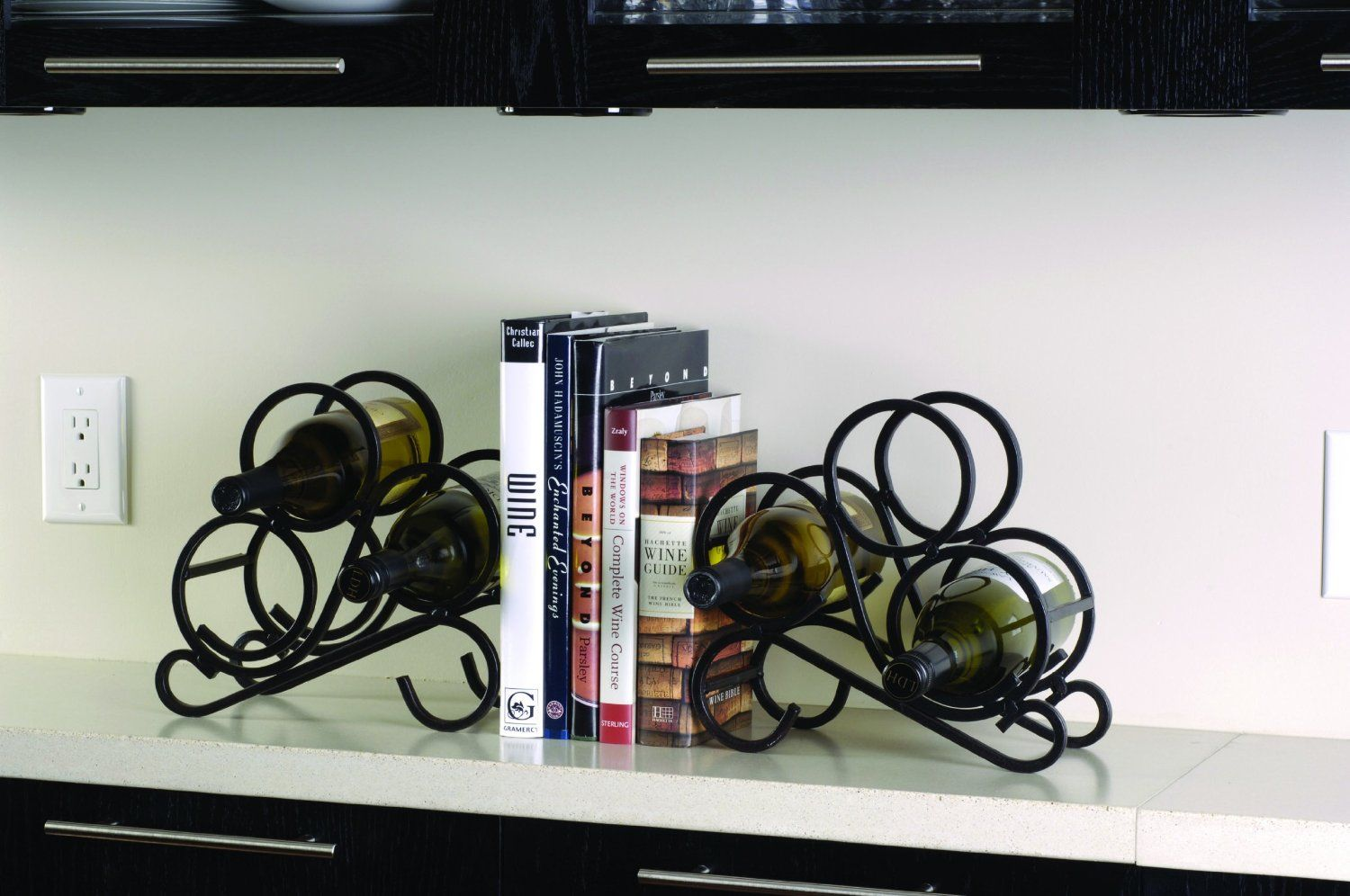 Electrical Wiring Book Amazon Amazoncom Oenophilia Scroll Bookend Wine Racks Set Of 2 End