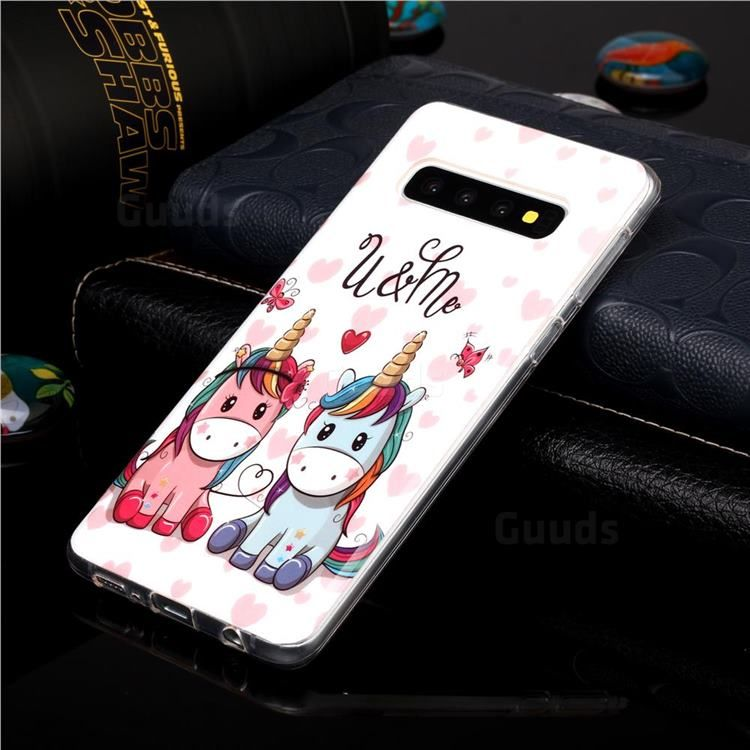 Couple Unicorn Noctilucent Soft Tpu Back Cover For Samsung Galaxy S10 6 1 Inch Galaxy S10 Cases Guuds In 2021 Iphone 11 Iphone Unicorn Pattern