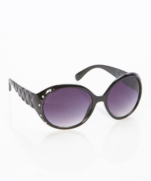 Take a look at the Black Moonstruck Sunglasses on #zulily today!