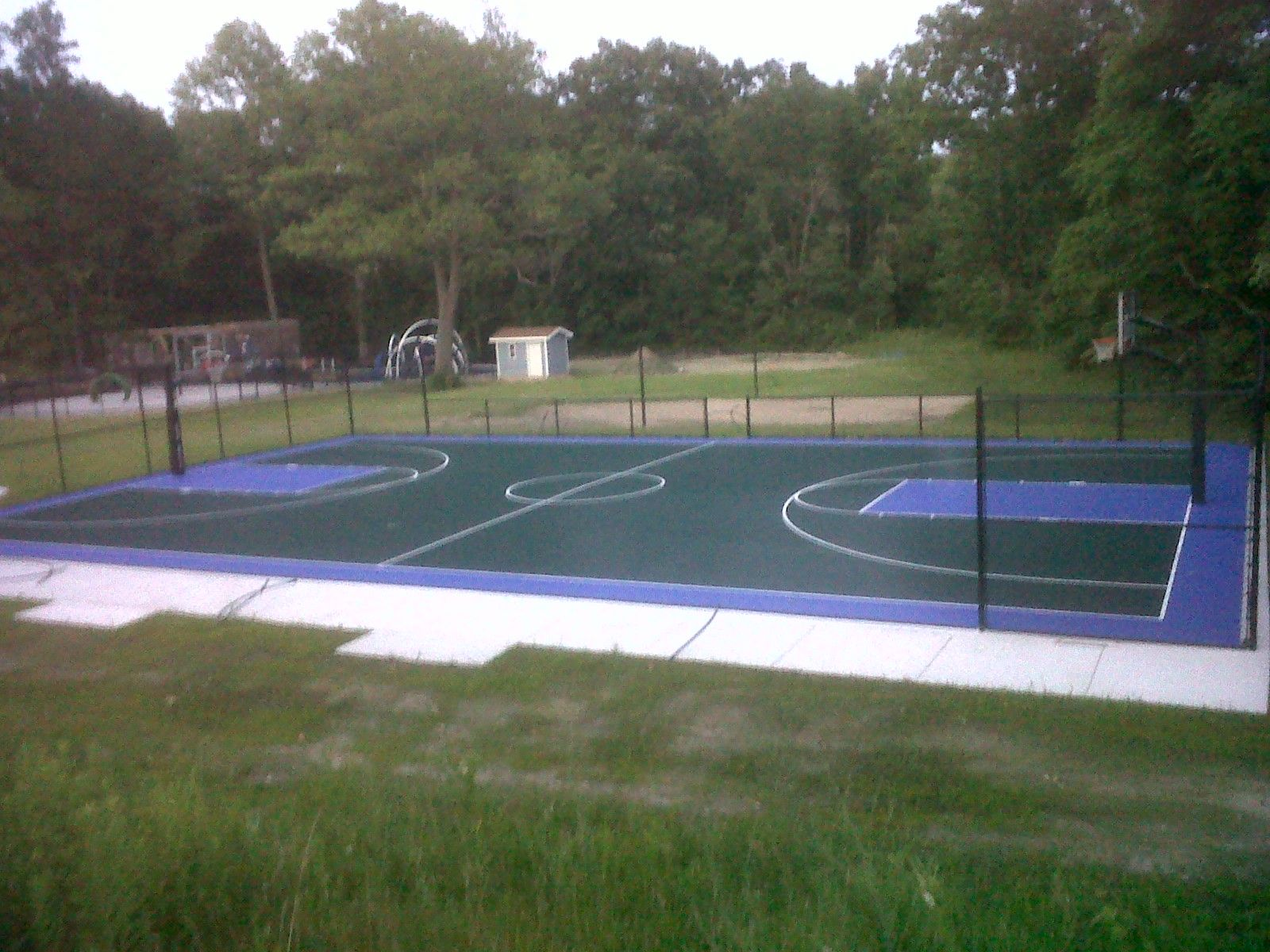 full basketball court and sand volleyball in new buffalo michigan