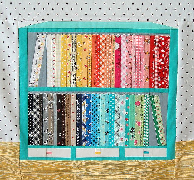 Amazing!!  Fabric Shelf Block by ayumills, via Flickr