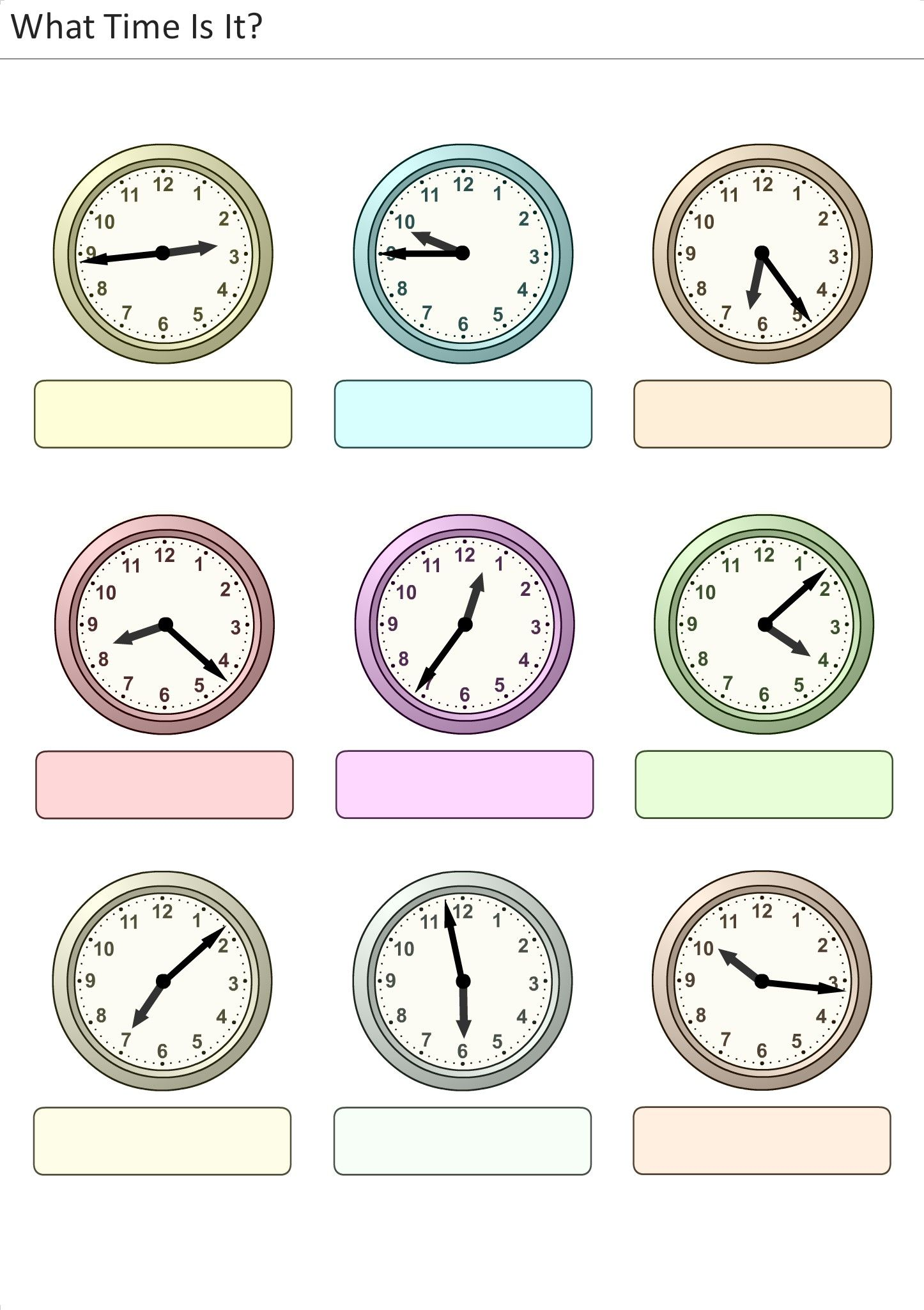 Que Hora Es Actividades Para Ninos 25