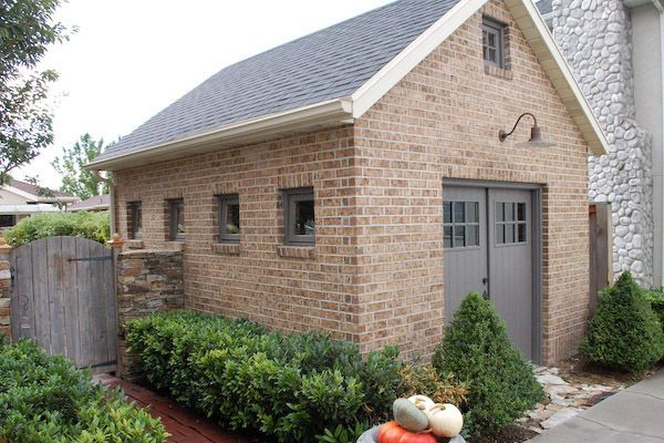 landscaping and outdoor building brick garden sheds brick garden sheds with painted grey door - Garden Sheds Reading