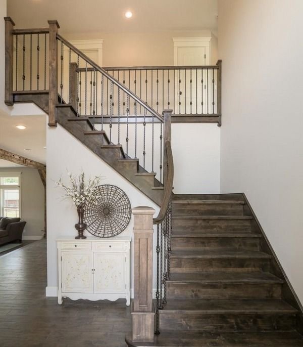Beautiful Interior Staircase Ideas And Newel Post Designs: Rustic Staircase Design Ideas Newel Post Design Staircase
