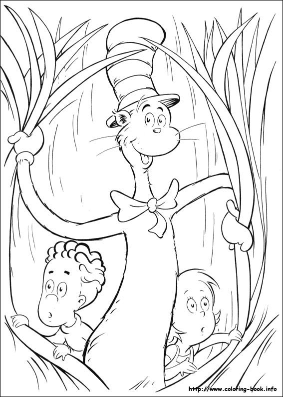 The cat in the hat coloring picture | Coloring for kid。 | Pinterest ...