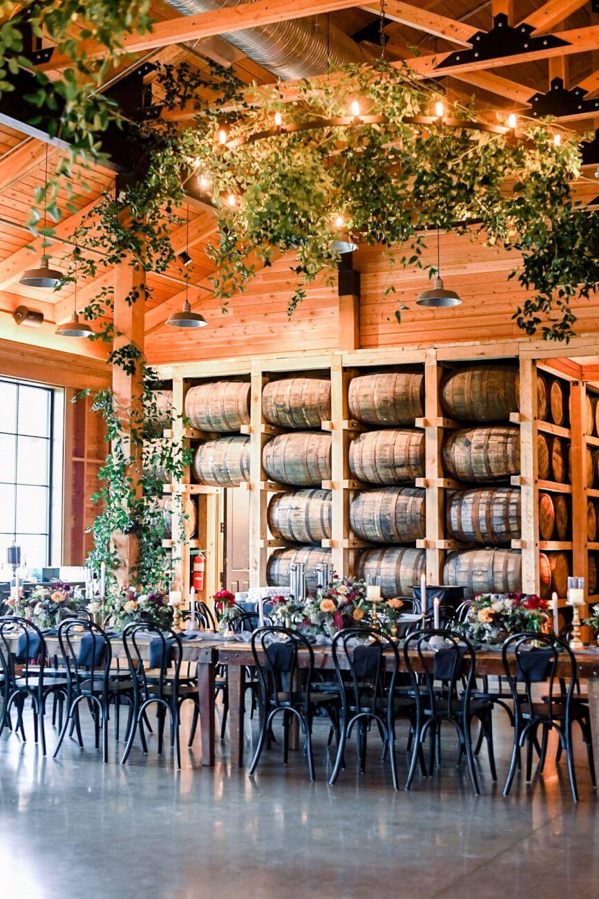 Rustic Fort Worth Distillery Wedding With Organic Details Distillery Wedding Wedding Reception Chairs Fort Worth Wedding