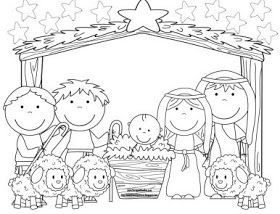 Baby Jesus Song More For Preschool Nativity Coloring Pages Preschool Christmas Christmas Coloring Pages