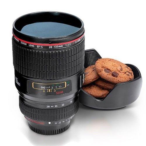 Regalos originales-Taza objetivo cámara fotos un regalo ideal para cualquier aficionado a la fotografía. #regalos originales.