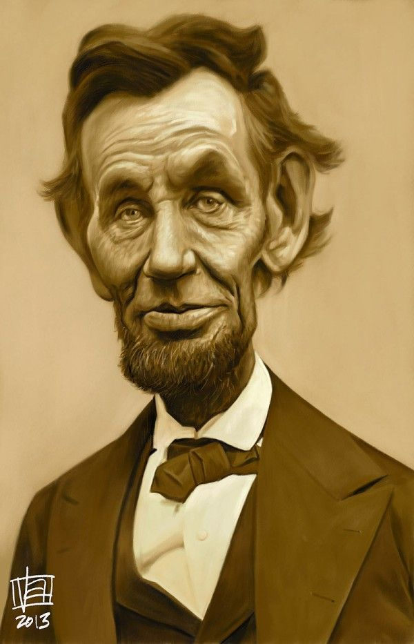 Caricatura De Abraham Lincoln Caricatures In 2018 Pinterest