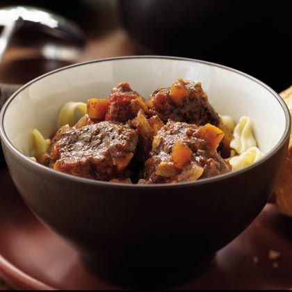 French braised beef, red wine, and vegetable stew.  can make in slow cooker or dutch oven