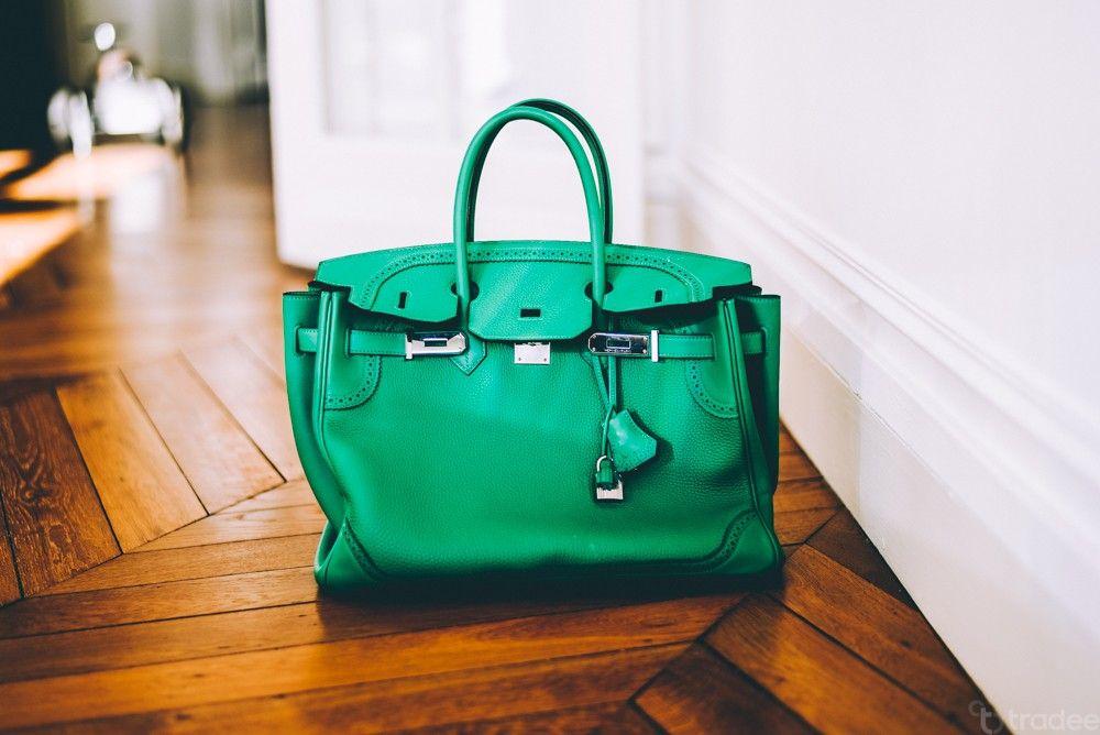 Accastillage 35 Vert Ghillies Bambou Birkin Hermès Palladium Cm OkuXilZwPT