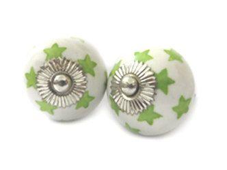 2 Frieden grün Keramik Knauf Sternen KnobKleo 1.6 Zoll von KnobKleo