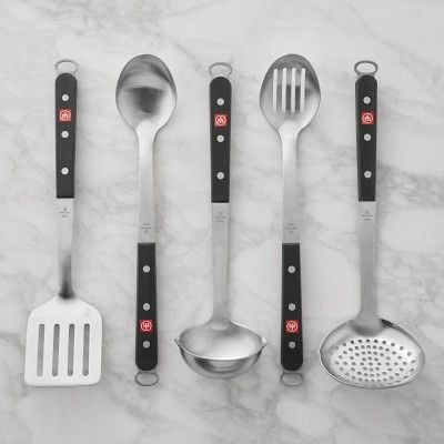 Wusthof Stainless Steel Utensils Set Of 5 Stainless Steel Utensils Stainless Steel Kitchen Tools Utensils