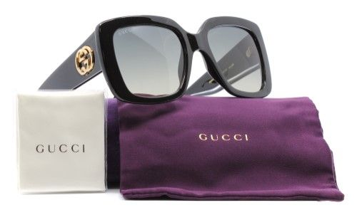 a4ae3660fe Gucci Women s Urban Collection GG0141S 0141 S 001 Black Square Sunglasses  53mm