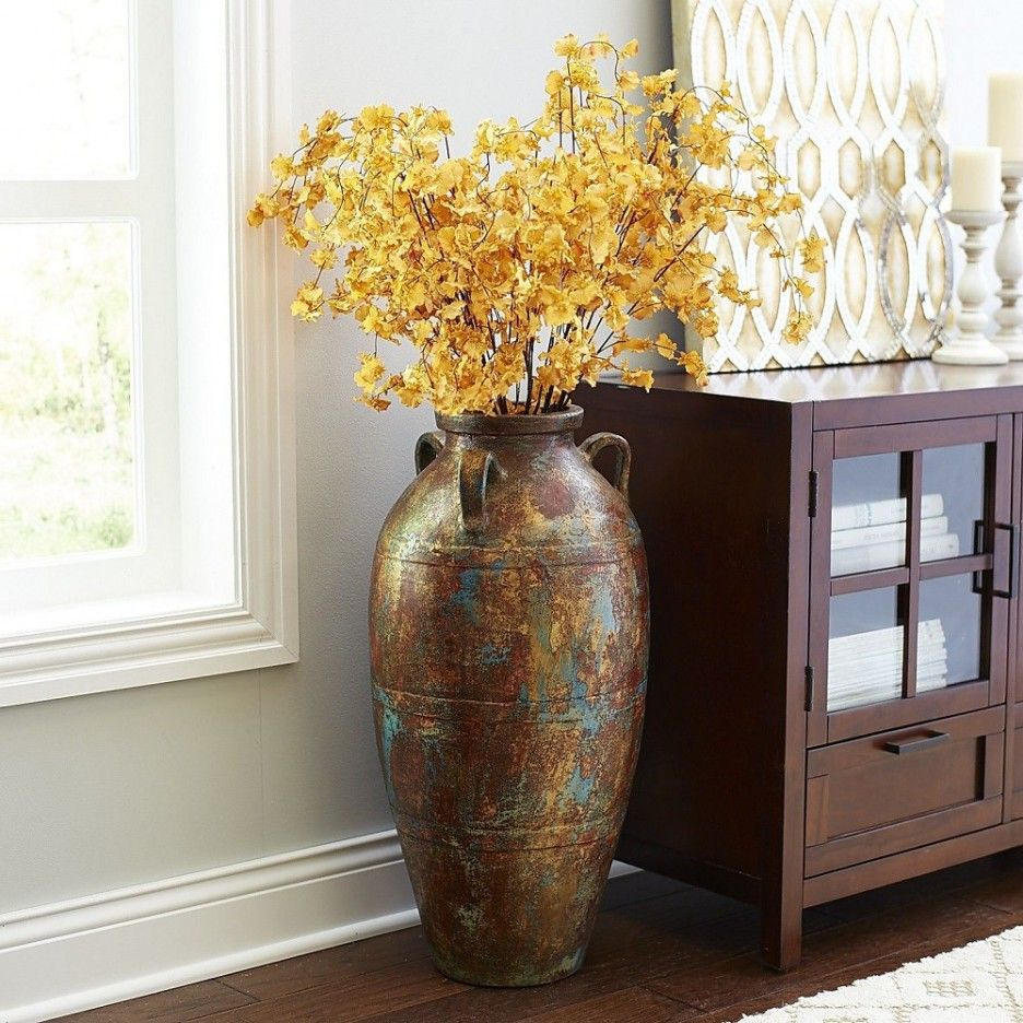 Living Room : Unique Hydria Living Room Vase With Big Multicolor Paint  Copperu2026