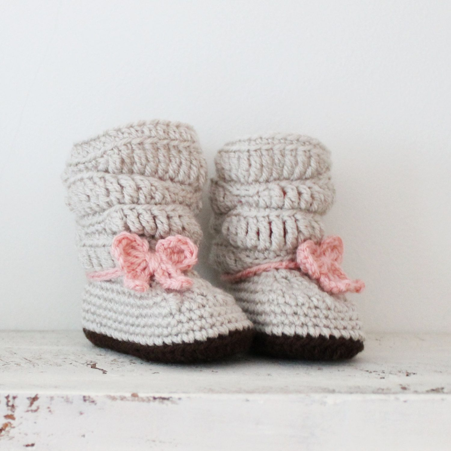 Baby Slouch Boots Infant Winter Boots Crochet Ugg by FadedLace ...