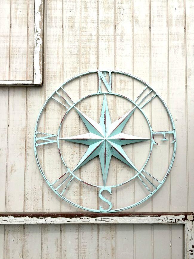 8 Best Nautical Decor Etsy Shops Compass Wall Art Compass Wall