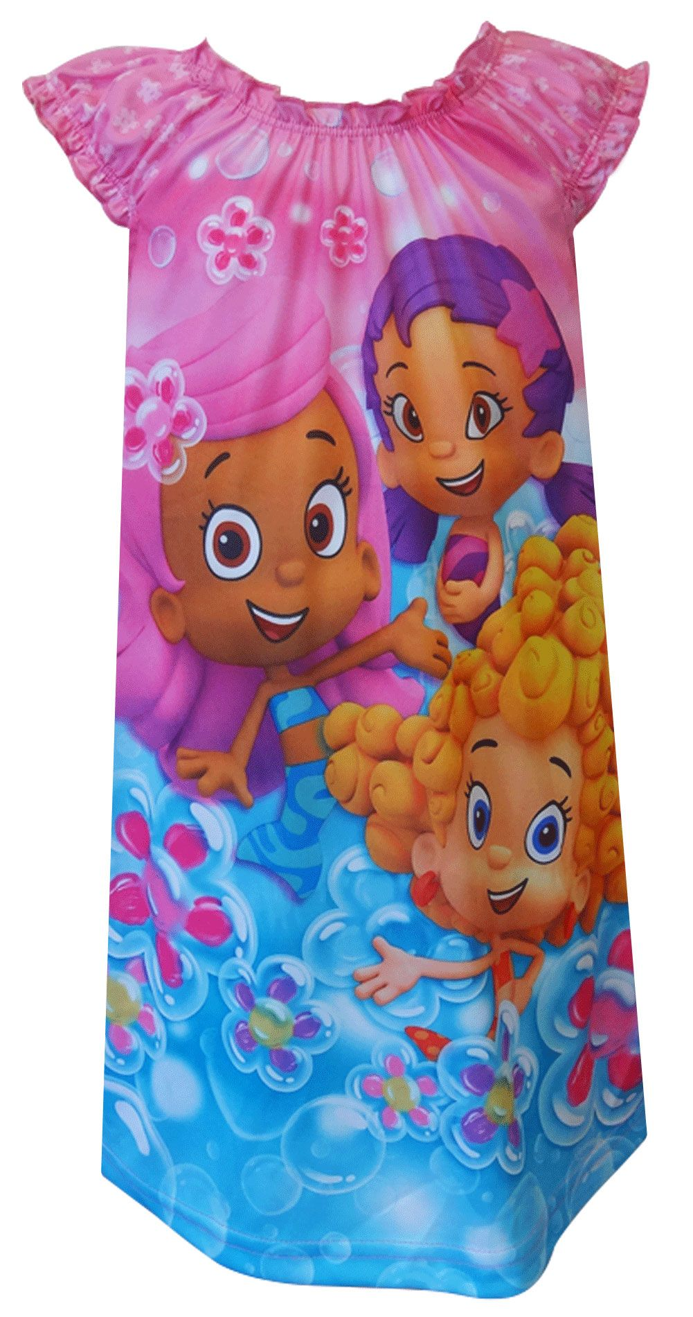 609a1ee783 Nickelodeon Bubble Guppies Pink Toddler Nightgown Time for some fun! These  flame resistant nightgowns for toddler girls feature.