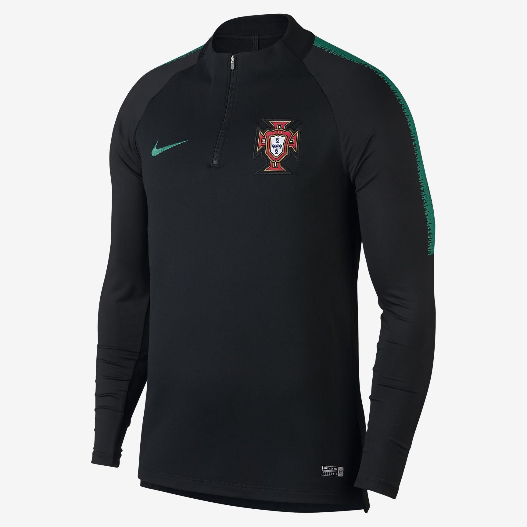 04d55e5ecab58 Top de fútbol de manga larga para hombre Portugal Dri-FIT Squad Drill