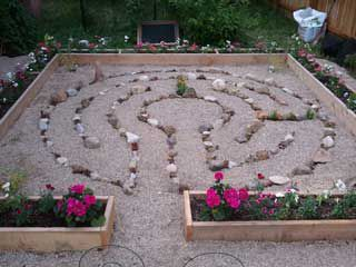 A stone and sand labyrinth by Backyard Labyrinths. Very simple but on simple japanese garden designs, simple rock garden designs, meditation garden designs, simple dog park designs, school garden designs, simple butterfly garden designs, small japanese garden designs, simple maze designs,