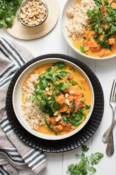 Photo of Sweet Potato and Peanut Stew with Coconut and Spinach Recipe | Elle Republic Su …
