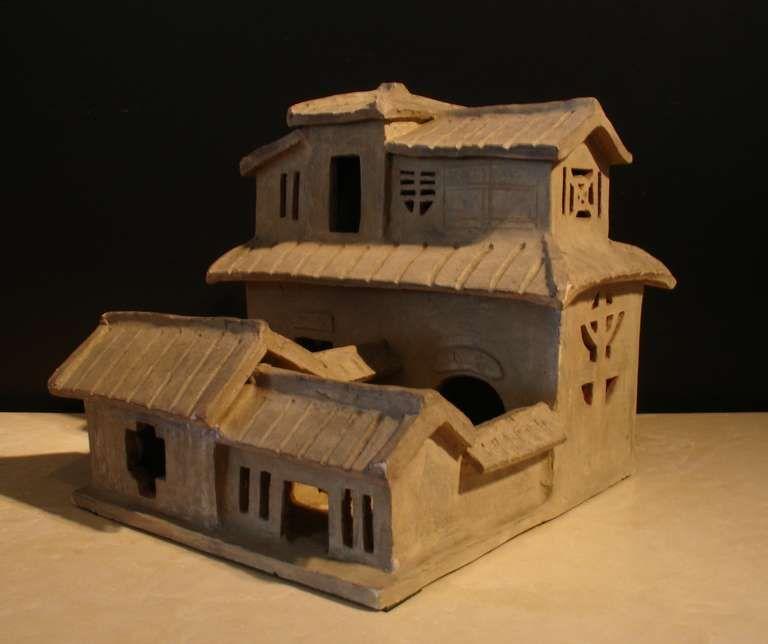 A Han Dynasty Pottery Model Of House