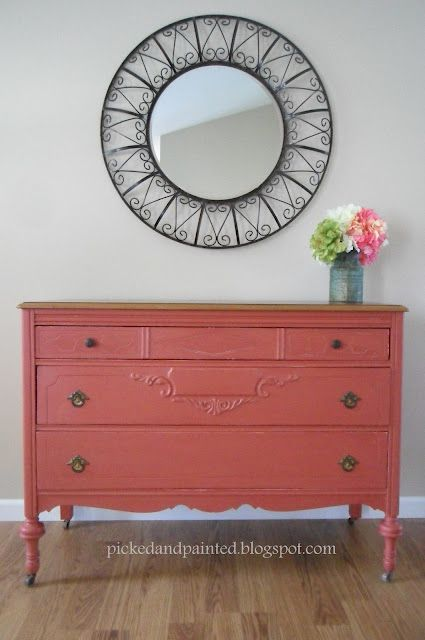 Picked & Painted- Red Dresser