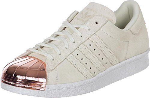adidas superstar degli anni '80 le donne metallo la w, beige / bianco / oro,