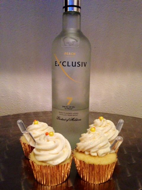 Liquor infused - Georgia Peach Cupcakes