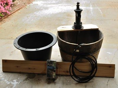 Tutorial time building a whiskey barrel or wine barrel for Homemade pond fountain ideas